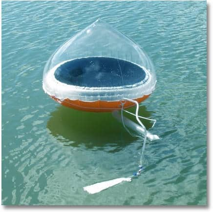 how to make saltwater or seawater drinkable using the Aquamate Solar Still Emergency Water Purification Inflatable Kit