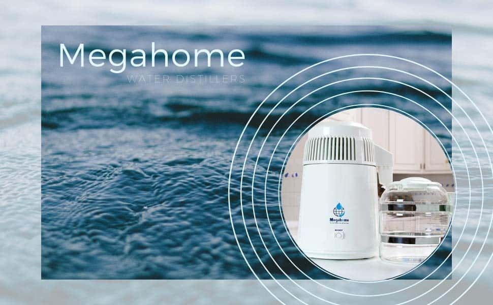 Using the Megahome water distiller to make contaminated water or salt water into fresh drinkable water