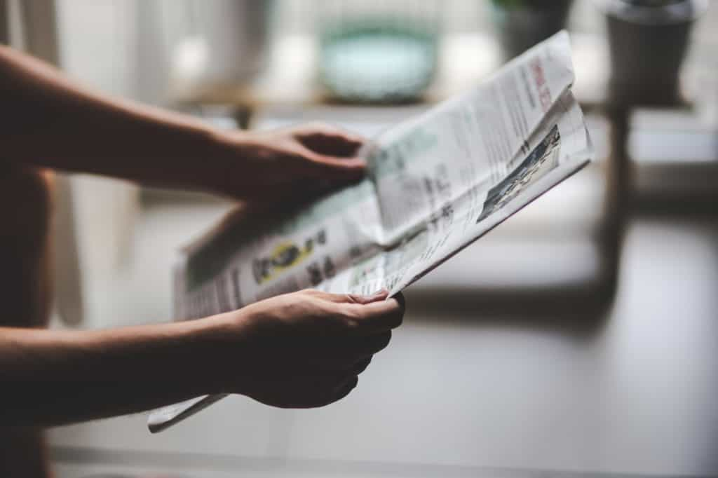 reading the news to be prepared for emergencies