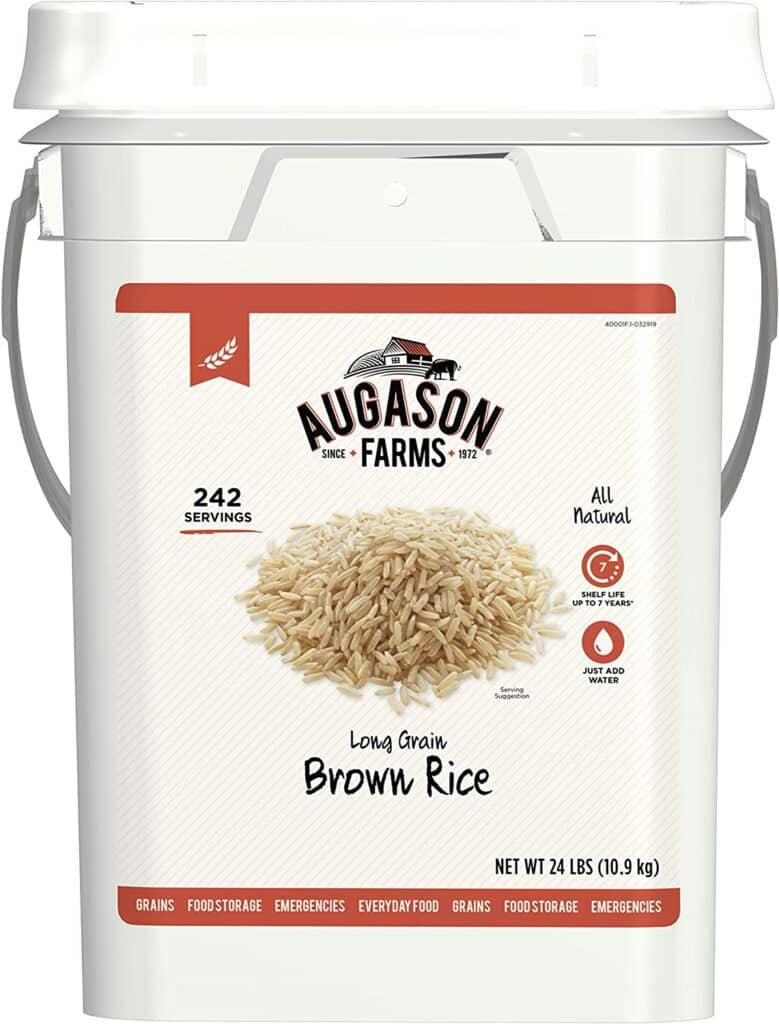 brown rice for healthy food storage