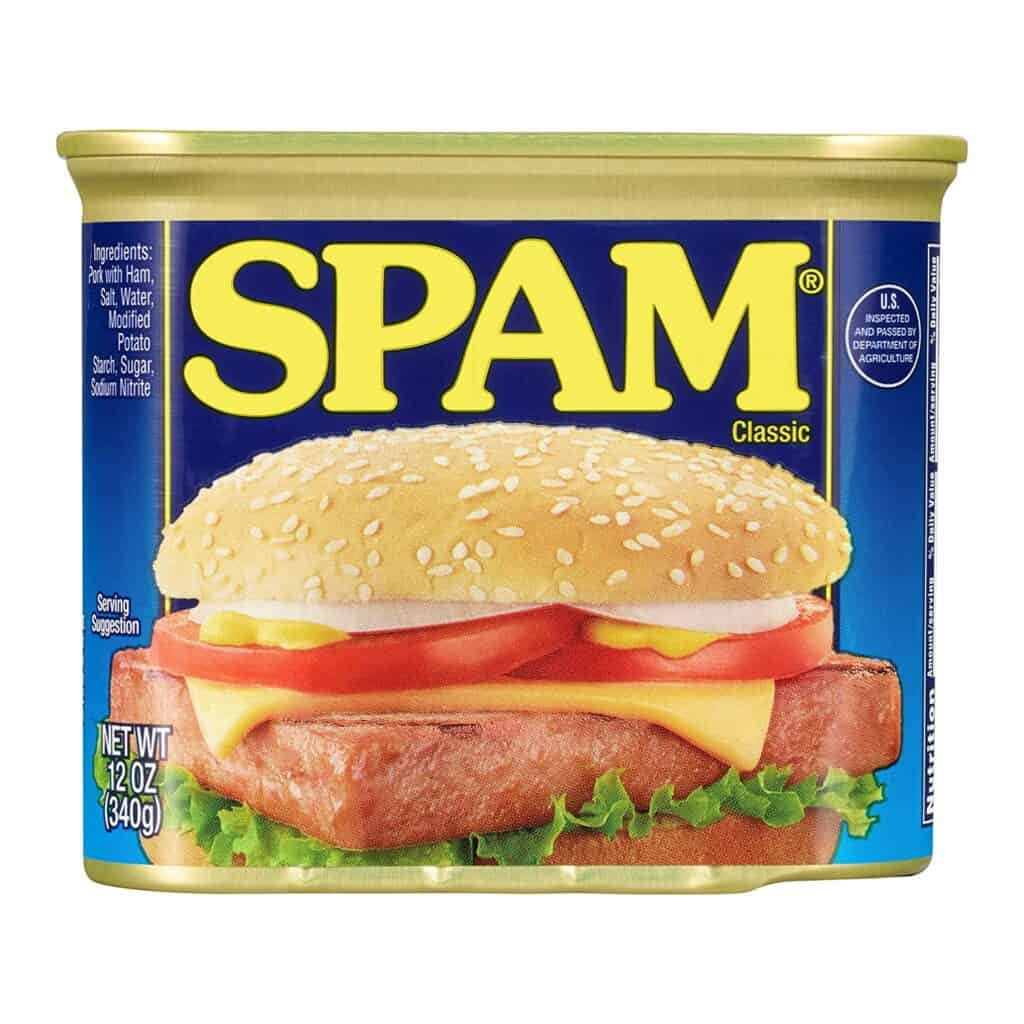 spam is one of the best foods for food storage