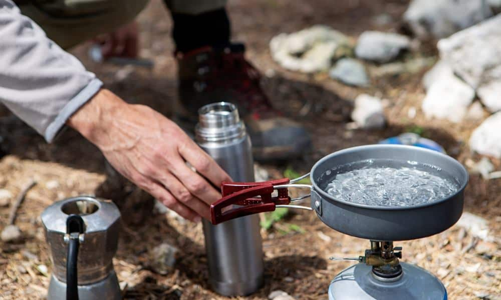 how to boil water without electricity and without power